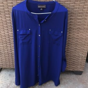 Dana Buchman deep blue/purple top